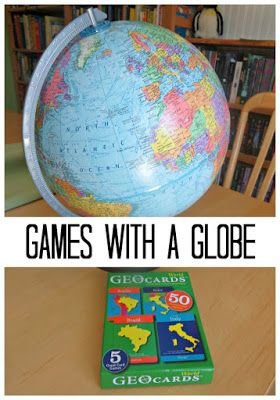 Have some fun with geography - play games with a globe