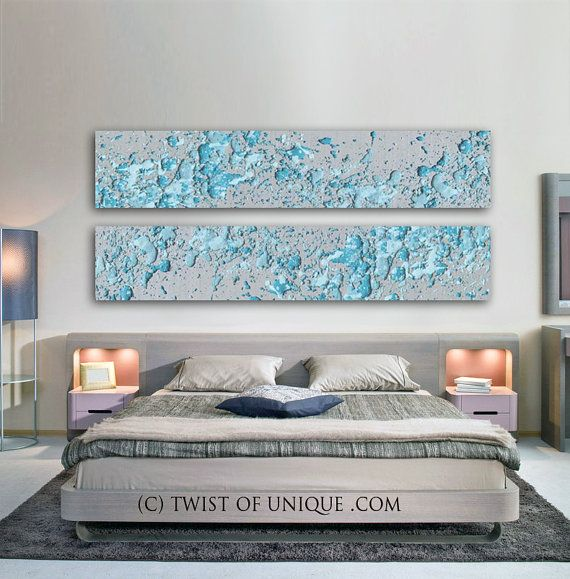 Silver Abstract Paintings / 2 panel CUSTOM 72 by TwistOfUnique