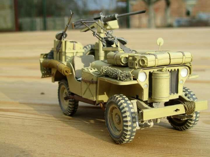 SAA Jeep paper model 1:25