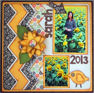 Such a fun layout by Jill Cornelius using the Chevron Templates in the January Blog Hop!