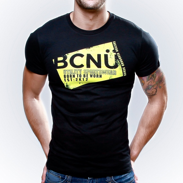 Spor-TEE Black  Born To Be Worn this 100% Cotton UtiliTEE is useful, functional, versatile, sporty and has been designed for everyday use. Dress it up, dress it down, wear it in, wear it out.     It's our favourite UtiliTee. It look's good, feel's good and is designed for urban lifestyle. www.bcnuclothing.com