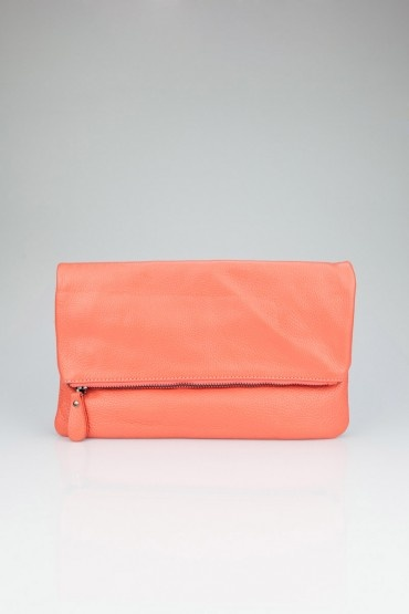 Fold Over Leather Clutch in Salmon | Shopsosie #clutch #leather #salmon #shopsosie: Clutches Leather, Shopsosi Clutches, Salmon Clutches, Purses Clutches, Leather Clutches, Bags Bags, Accessories, Pur Clutches, Folding Ov Clutches