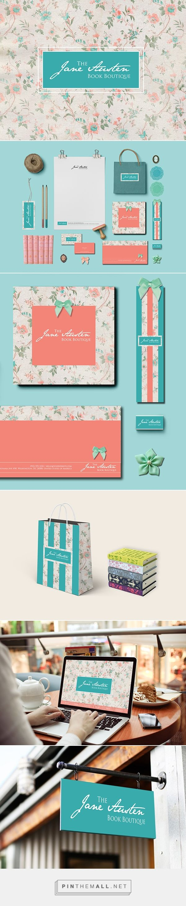 The Jane Austen Book Boutique on Behance | Fivestar Branding – Design and Branding Agency & Inspiration Gallery