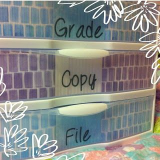 From Mrs. Allen's Teaching Files: Grade/Copy/File Bin, Etc... for Monday Made It!