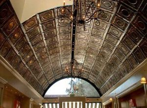 A Standard Dropin Tin Installation With A Beautiful Barrel Ceiling.