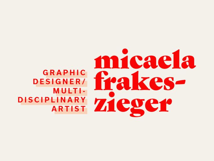 Branding by Micaela Frakes-Zieger