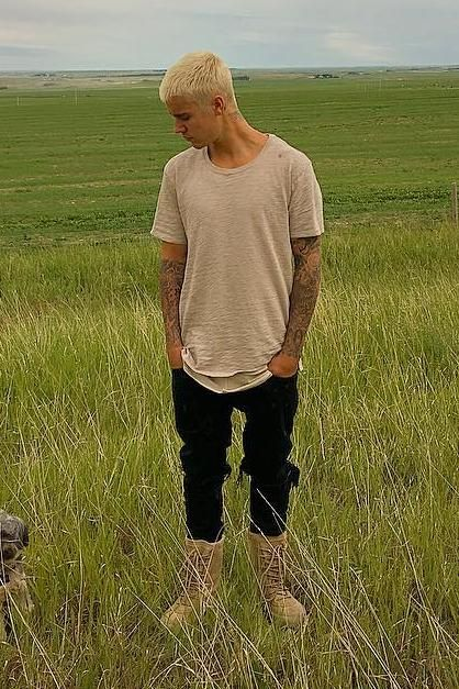 Justin Bieber wearing Yeezy Season 2 Crepe Boot in Taupe