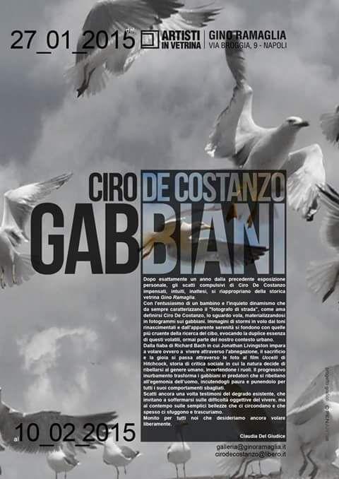 """Claudia Del Giudice per Ciro De Costanzo / Gino Ramaglia """"Artisti in Vetrina"""" - Napoli"""