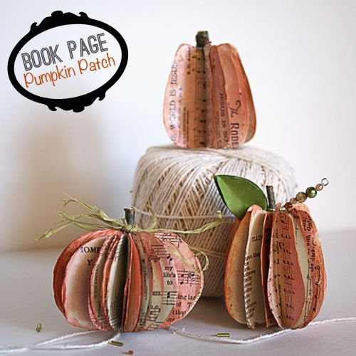 make book page pumpkins savedbyloves papercraft pumpkin halloween fal diy - Diy Fall Decor