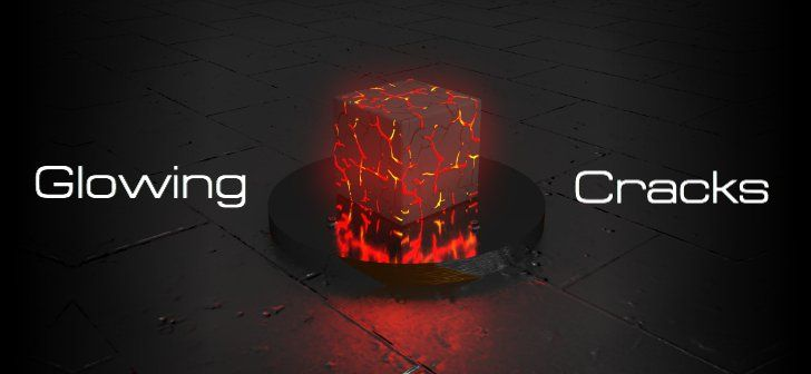 Creating Glowing Surface Cracks in Blender Cycles