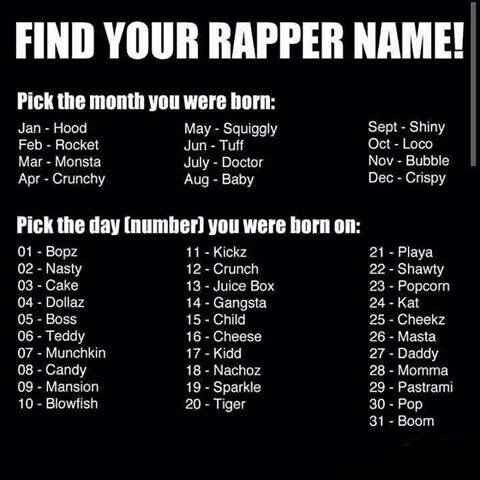 What is your name??!?!?? Mines Baby Cheeks!!! Lolololololololololol lmbo