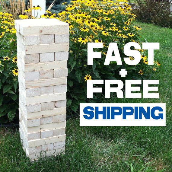 Giant Jenga w/Optional Crate **Fast & Free Shipping**