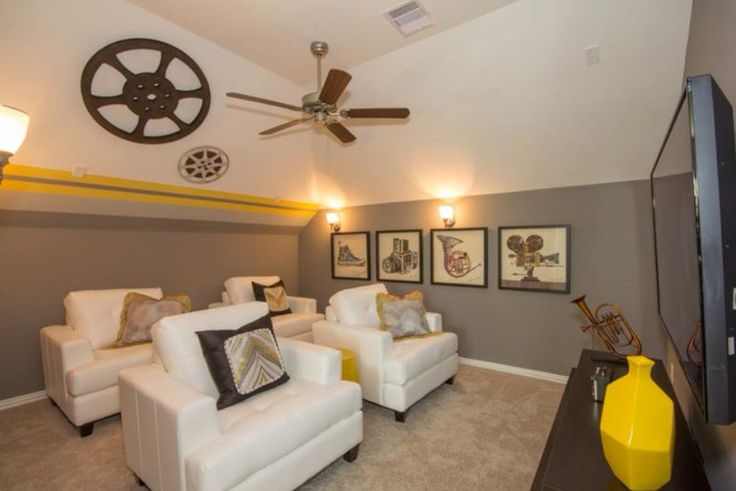 Media room decor ideas media room pinterest for Media room decorating ideas