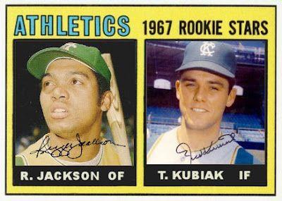 1967 Topps Athletics Rookies - Reggie Jackson, Ted Kubiak, Kansas City Athletics, Baseball Cards That Never Were