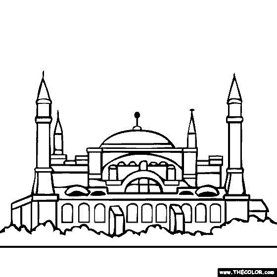 hagia sophia istanbul turkey coloring page