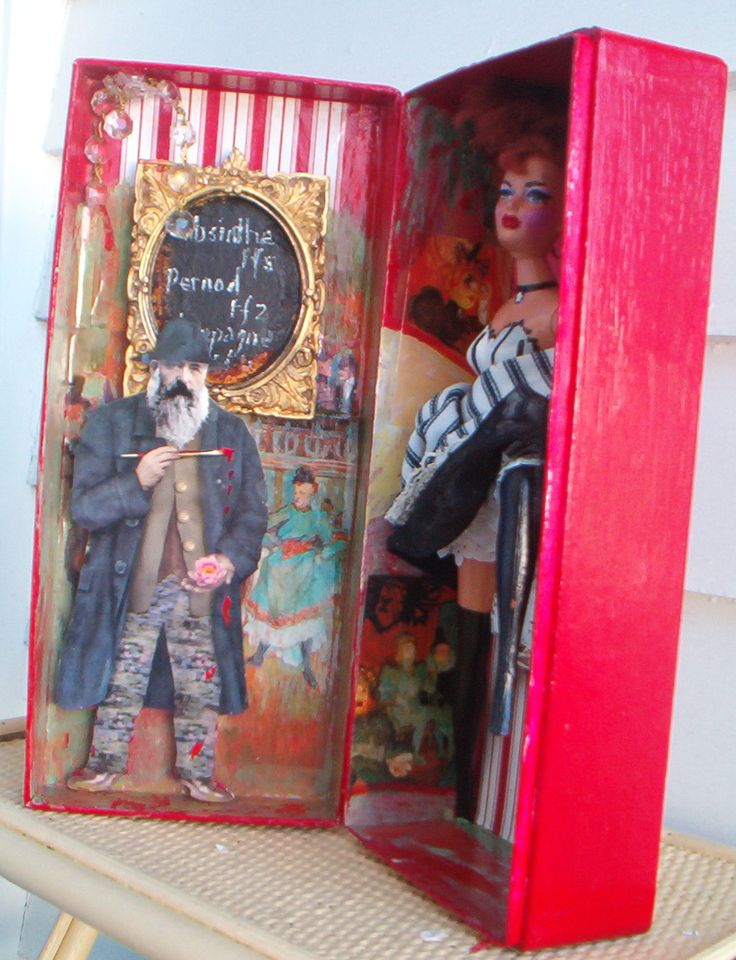 Cancan dancer. Altered box and doll. Had heaps of fun making this.