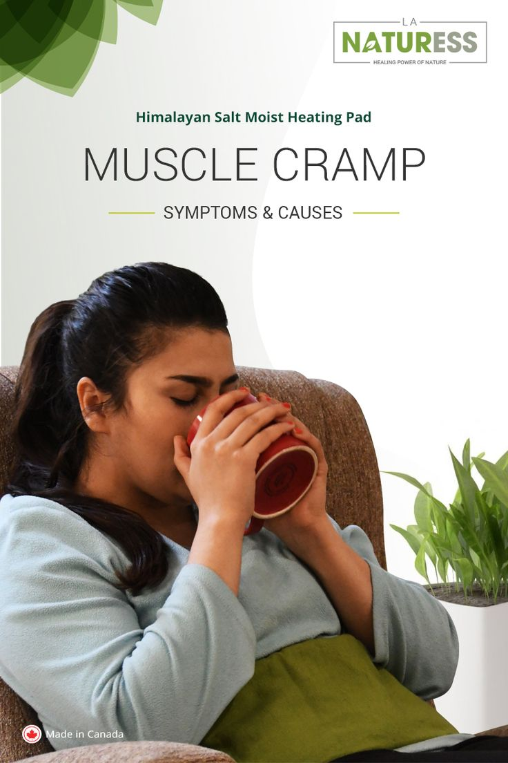 Muscle cramp - Symptoms and causes A cramp describes as a sudden muscle contraction which causes significant pain and stiffness in the affected muscle. Besides the immediate sharp pain, you can feel a hard lump in the affected muscle tissue. The pain sometimes resolves on its own over a period of few seconds or minutes, or it could take hours to recover. #LaNaturess #heatingpad #musclecramps #heattherapy
