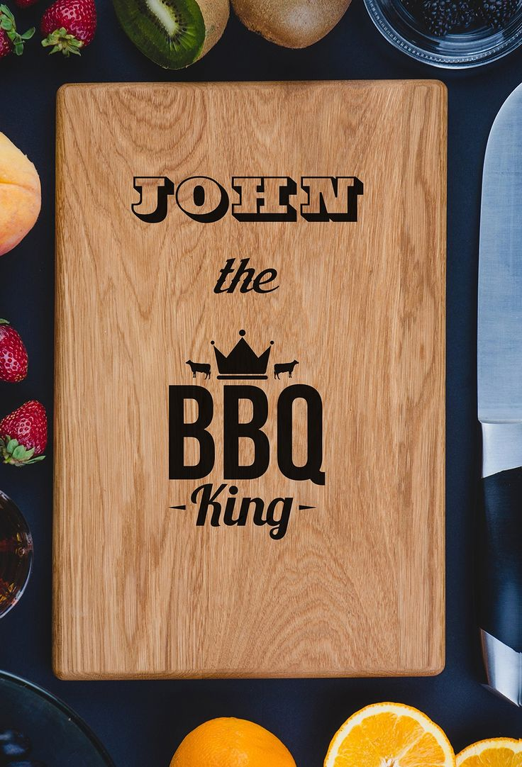 BBQ King Dad Gift The GrillFather Personalized Engraved Cutting Board- Wedding Gift, Anniversary Gifts, Housewarming Gift,Birthday Gift, Corporate Gift, Award, Promotion.