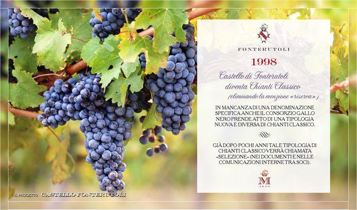 """Con il 1998 nasce """"Selezione"""", una nuova tipologia di Chianti Classico. @marchesimazzei #fonterutoli #marchesimazzei #wine #tuscany"""