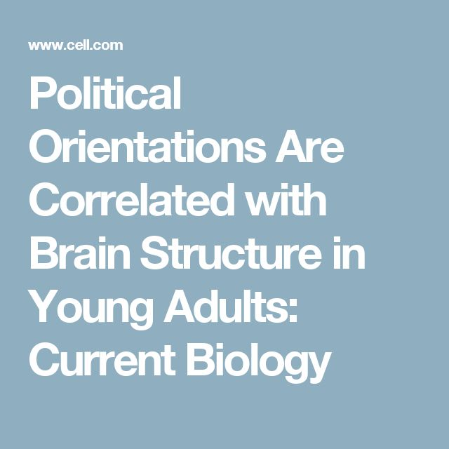 Political Orientations Are Correlated with Brain Structure in Young Adults: Current Biology