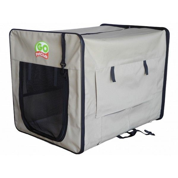 go pet club beige soft dog crate overstock shopping the best prices on go - Soft Dog Crates