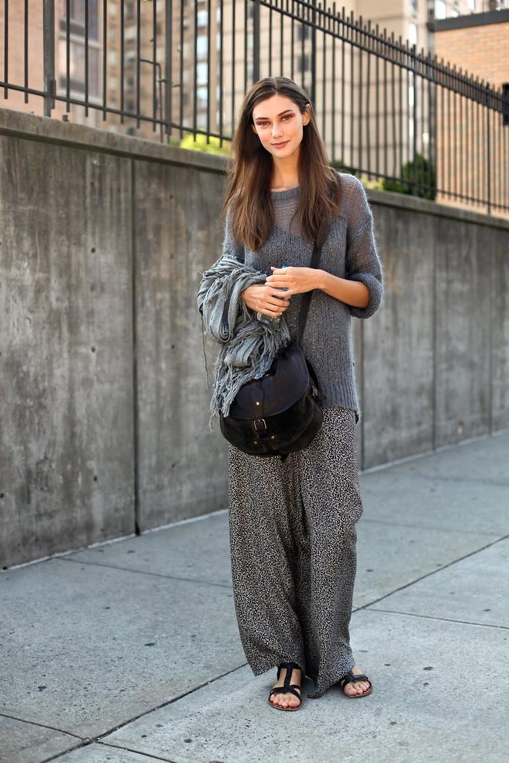 Relaxed wide leg pants