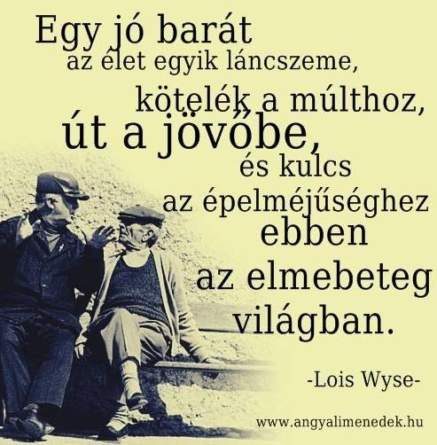 Lois Wyse gondolata a barátságról. A kép forrása: Angyali Menedék # Facebook