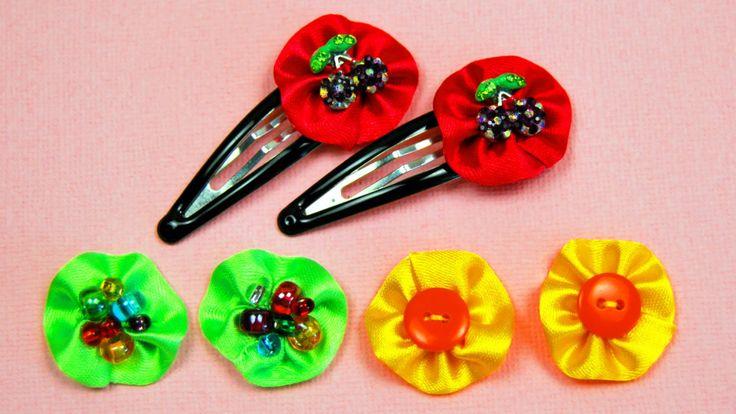 Как украсить ЗАКОЛКИ для девочки / Decoration hairpins Tutorial / ✿ Nata...