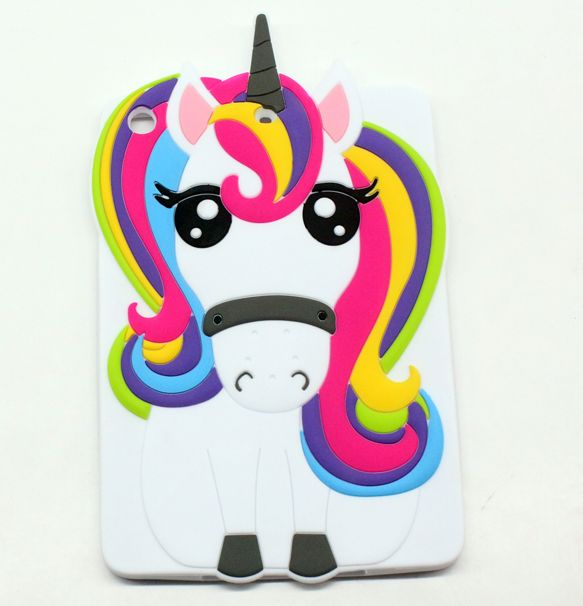 Cute IPAD mini 1 2 3 4 Casse 3D Cartoon unicorn horse Cases For ipad 2 3 4 5 6 ipad air 1 2 FUN Cases