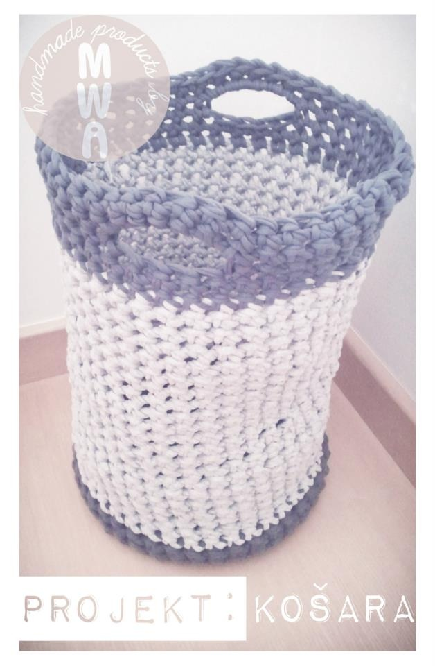 Handmade Crochet Basket : Unique handmade crocheted basket cm mm crochet hook