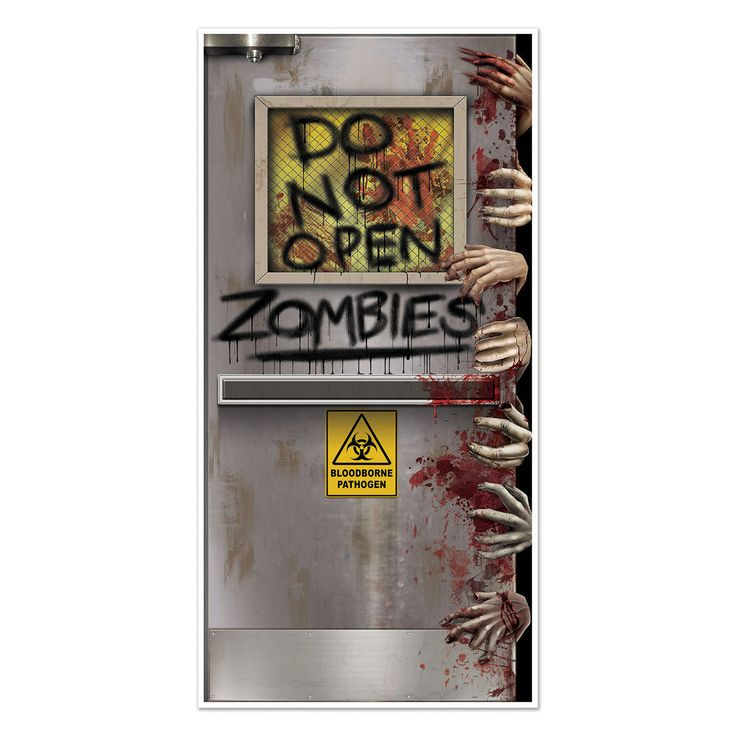 HALLOWEEN Walking Dead Party ZOMBIE LAB Do Not Open DOOR COVER Decoration Prop | Home & Garden, Holiday & Seasonal Décor, Halloween | eBay!