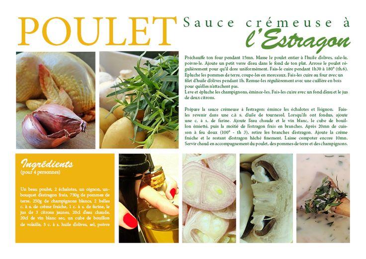 Poulet sauce crémeuse à l'Estragon - Des Goûts et des COULEURS © Charlotte Dumas