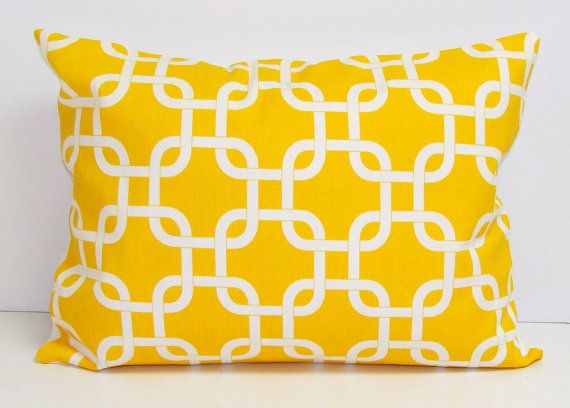 PillowYellow12X16 or 12x18 inch Decorator Lumbar by ElemenOPillows, $16.00: Pillows 16X20 16X24, Pillows 12X16, Decoration Pillows, Pillows Covers Decoration, Pillows Housewares Pillows, Pillows Covers Fre, Lumbar Pillows, 12X20 Inch Pillows Decoration, Couch Pillows