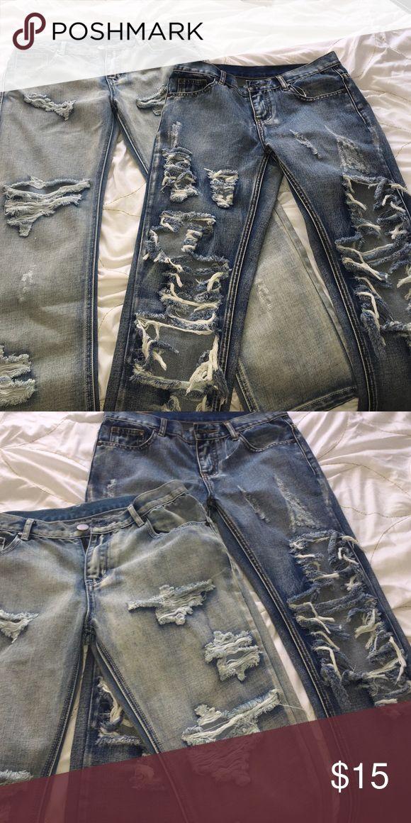 1000+ ideas about Ripped Boyfriend Jeans on Pinterest ...