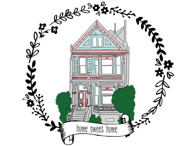 Custom House Portrait - hand drawn illustration of your home - choose size and style - gift for new homeowner - moving announcement by MaybeSparrowDesigns on Etsy https://www.etsy.com/listing/128333591/custom-house-portrait-hand-drawn
