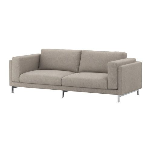 NOCKEBY Three-seat sofa - Tenö light grey/chrome-plated - IKEA $949.00  http://www.ikea.com/aa/en/catalog/products/S89020716/#/S49020718
