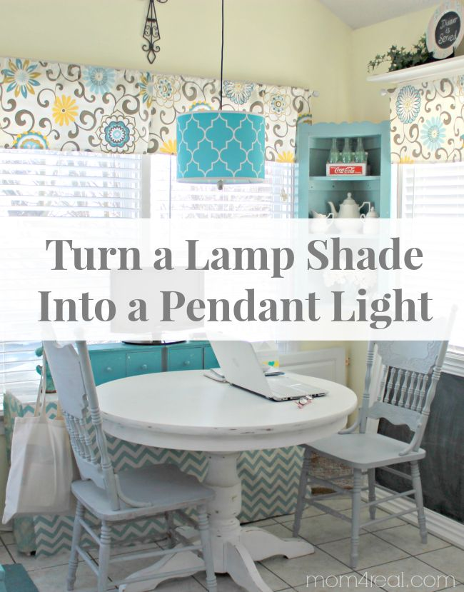 How To Turn A Lamp Shade Into A Pendant Light - Once you finish this project don't forget to add your favorite BlueMax bulb and bring the brilliance of daylight inside!