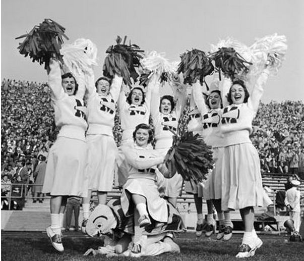 The Manly Origins of Cheerleading (click thru for analysis)