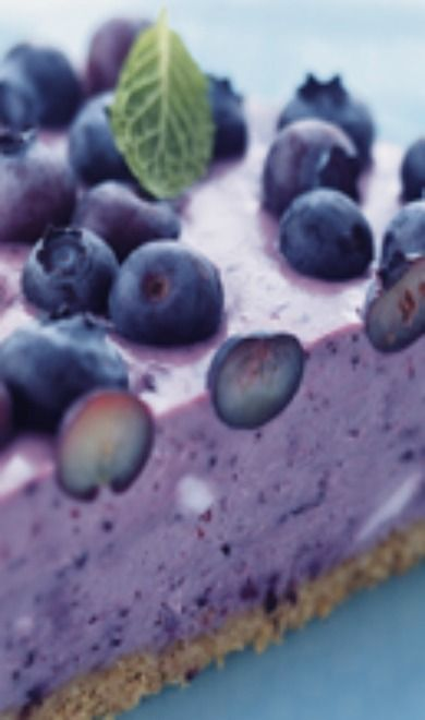 Blueberry Ice Box Pie - except I wouldn't use fat free/low fat everything, gross.