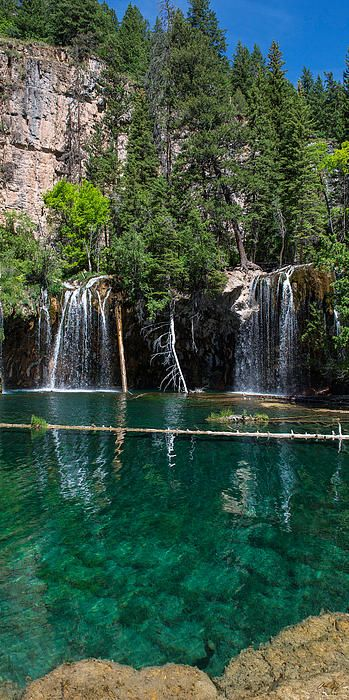 The famous Hanging Lake, Glenwood Springs, Colorado - Aaron Spong http://fineartamerica.com/featured/hanging-lake-vertical-panorama-aaron-spong.html