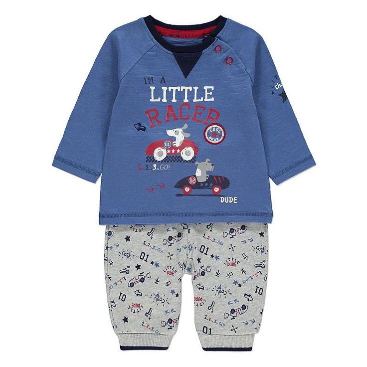 Vauvan printtipaita ja housut setti