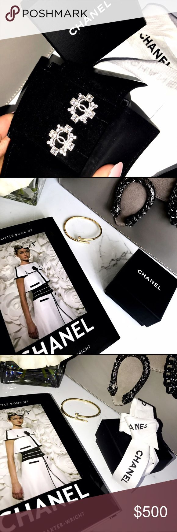 Chanel Earrings/Studs ( Authentic ) Never Worn, Chanel CC Diamond Earrings/Studs CHANEL Jewelry Earrings