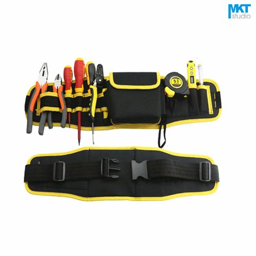 1Pcs Yellow Edge 56x16cm Oxford Cloth Durable Waterproof Tools Container Storage Waist Bag With Belt,Electrical Tools Bag
