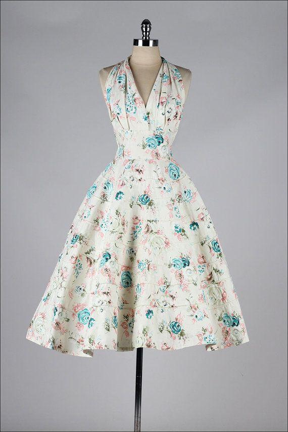 r e s e r v e d /// vintage 1950s halter por millstreetvintage