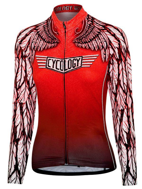 Free Flight Women's Long Sleeve cycling jersey from Cycology. #cycology, #jersey