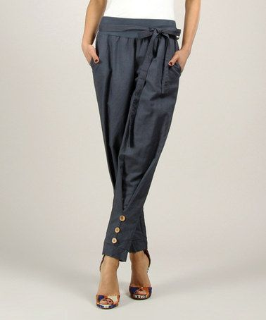 Love this Navy Linen Pants on #zulily! #zulilyfinds.  These are kind of cute!