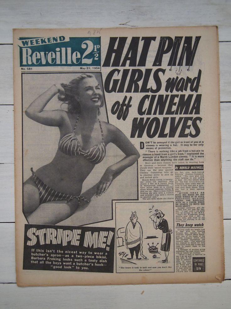 12 best 1950s Reveille newspaper headlines, pin ups, adverts ...