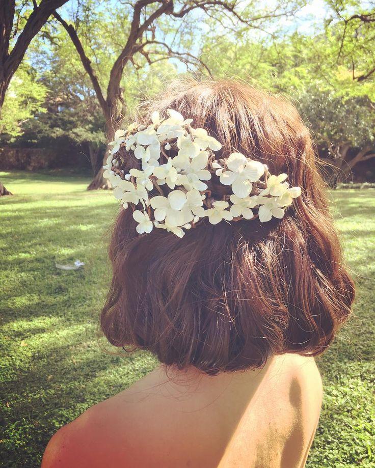 〔ボブ・ショート〕短めの髪型に似合うブライダルヘアアレンジ | marry[マリー]