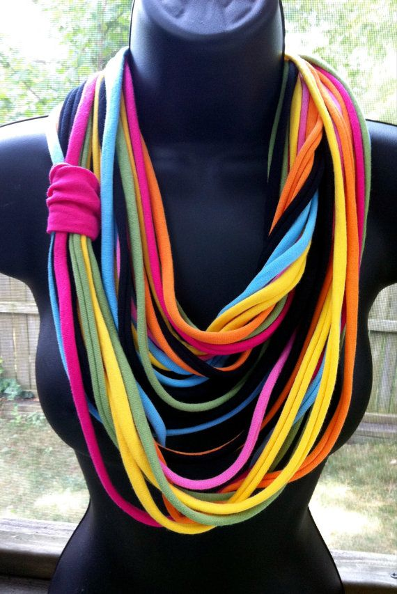 T shirt necklace/scarf