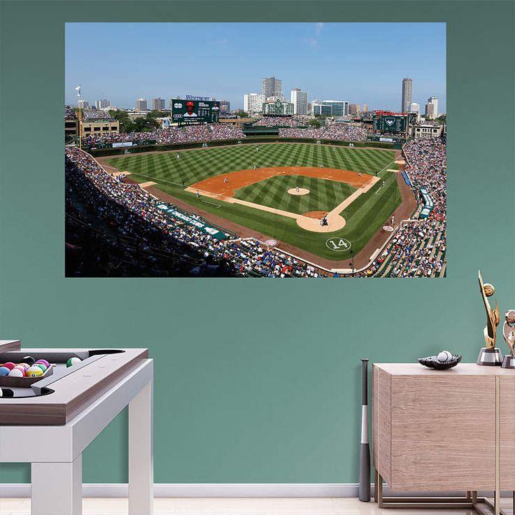 Chicago Cubs Wrigley Field Fathead Wall Mural Home Design Ideas